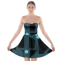 A Completely Seamless Background Design Circuitry Strapless Bra Top Dress