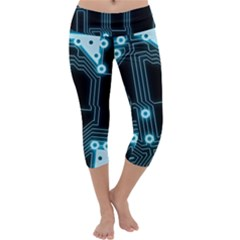 A Completely Seamless Background Design Circuitry Capri Yoga Leggings
