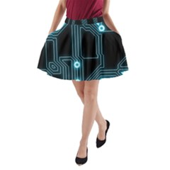 A Completely Seamless Background Design Circuitry A Line Pocket Skirt