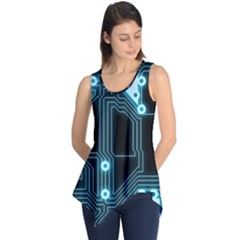 A Completely Seamless Background Design Circuitry Sleeveless Tunic