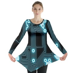 A Completely Seamless Background Design Circuitry Long Sleeve Tunic