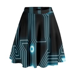 A Completely Seamless Background Design Circuitry High Waist Skirt