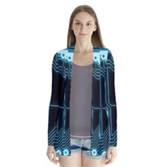 A Completely Seamless Background Design Circuitry Cardigans