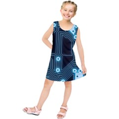 A Completely Seamless Background Design Circuitry Kids  Tunic Dress