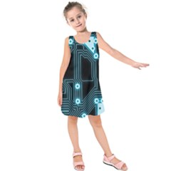 A Completely Seamless Background Design Circuitry Kids  Sleeveless Dress