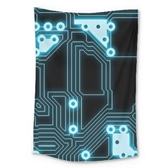 A Completely Seamless Background Design Circuitry Large Tapestry