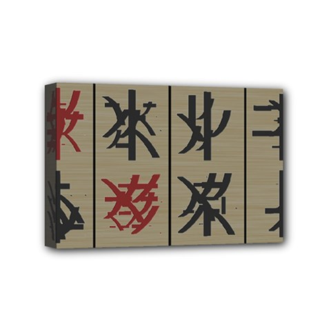 Ancient Chinese Secrets Characters Mini Canvas 6  X 4