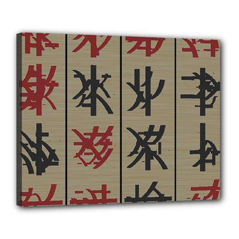Ancient Chinese Secrets Characters Canvas 20  X 16