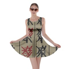 Ancient Chinese Secrets Characters Skater Dress