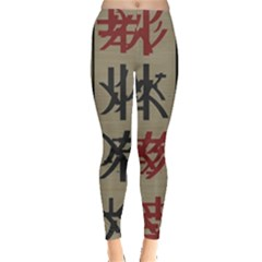 Ancient Chinese Secrets Characters Leggings