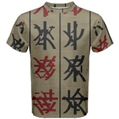 Ancient Chinese Secrets Characters Men s Cotton Tee