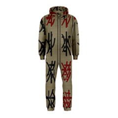 Ancient Chinese Secrets Characters Hooded Jumpsuit (Kids)