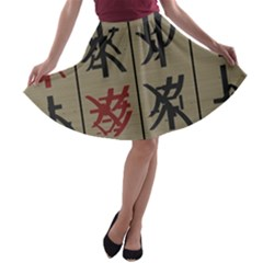 Ancient Chinese Secrets Characters A Line Skater Skirt