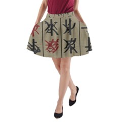 Ancient Chinese Secrets Characters A Line Pocket Skirt