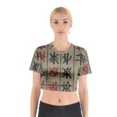 Ancient Chinese Secrets Characters Cotton Crop Top