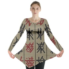 Ancient Chinese Secrets Characters Long Sleeve Tunic