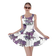 Many Cats Silhouettes Texture Skater Dress