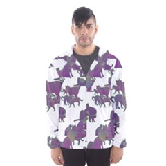 Many Cats Silhouettes Texture Hooded Wind Breaker (men)