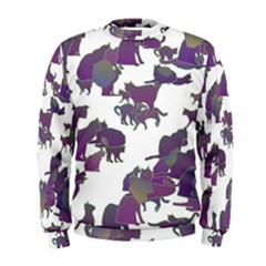 Many Cats Silhouettes Texture Men s Sweatshirt