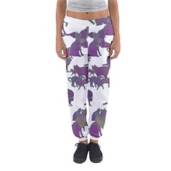Many Cats Silhouettes Texture Women s Jogger Sweatpants