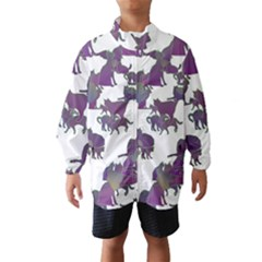 Many Cats Silhouettes Texture Wind Breaker (kids)