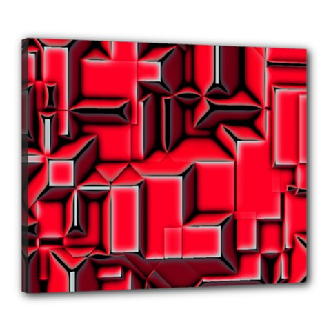 Background With Red Texture Blocks Canvas 24  X 20