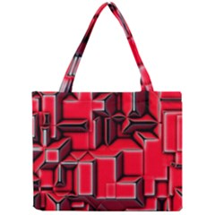 Background With Red Texture Blocks Mini Tote Bag