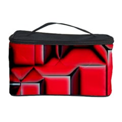 Background With Red Texture Blocks Cosmetic Storage Case