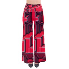 Background With Red Texture Blocks Pants