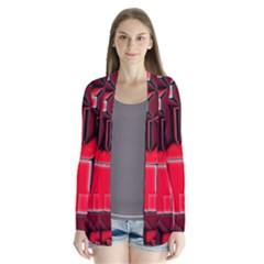 Background With Red Texture Blocks Cardigans