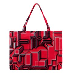 Background With Red Texture Blocks Medium Tote Bag