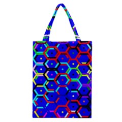 Blue Bee Hive Pattern Classic Tote Bag