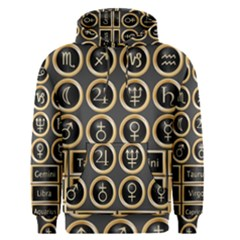 Black And Gold Buttons And Bars Depicting The Signs Of The Astrology Symbols Men s Pullover Hoodie