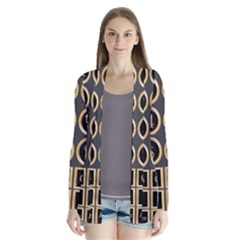 Black And Gold Buttons And Bars Depicting The Signs Of The Astrology Symbols Cardigans