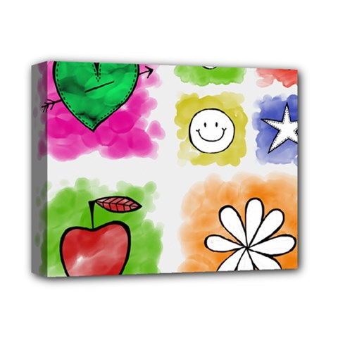 A Set Of Watercolour Icons Deluxe Canvas 14  X 11