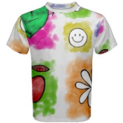 A Set Of Watercolour Icons Men s Cotton Tee