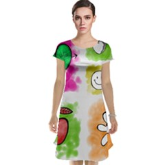 A Set Of Watercolour Icons Cap Sleeve Nightdress
