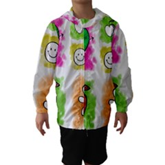 A Set Of Watercolour Icons Hooded Wind Breaker (kids)