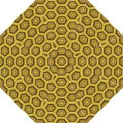 Golden 3d Hexagon Background Hook Handle Umbrellas (medium)