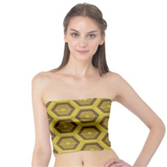 Golden 3d Hexagon Background Tube Top