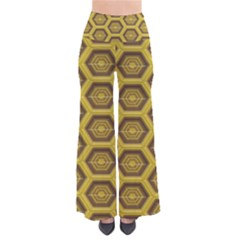 Golden 3d Hexagon Background Pants