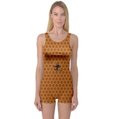The Lonely Bee One Piece Boyleg Swimsuit