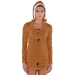 The Lonely Bee Women s Long Sleeve Hooded T Shirt