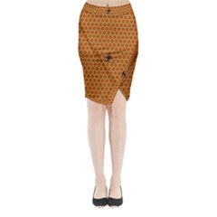 The Lonely Bee Midi Wrap Pencil Skirt