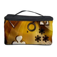 Symbols On Gradient Background Embossed Cosmetic Storage Case