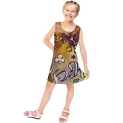 Symbols On Gradient Background Embossed Kids  Tunic Dress