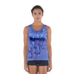 fTank top with electric flower pattern