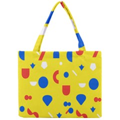 Circle Triangle Red Blue Yellow White Sign Mini Tote Bag