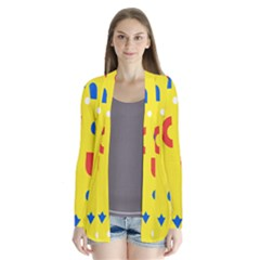Circle Triangle Red Blue Yellow White Sign Cardigans