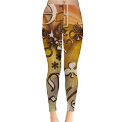 Symbols On Gradient Background Embossed Leggings